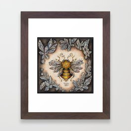 Crystal bumblebee Framed Art Print