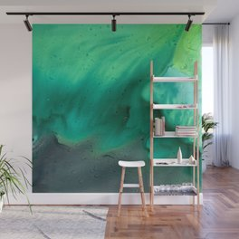 Teal Storm Wall Mural