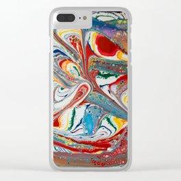 Peace Rainbow Clear iPhone Case
