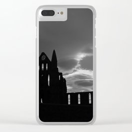 Whitby Abbey. Clear iPhone Case
