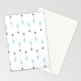 Blue Arrow Stationery Cards