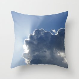 Sun Breaking Through Clouds Throw Pillow
