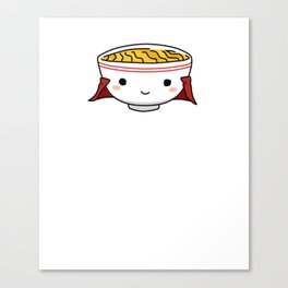 Udon Know How Much I Love You Funny Japanese Noodle Canvas Print