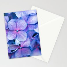 Hydrangea Flowers : Periwinkle Blue Lavender Pink Stationery Cards