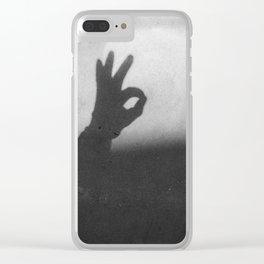OK (B&W) Clear iPhone Case