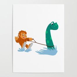 Bigfoot and  nessie Poster