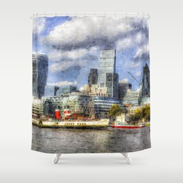 London Art Shower Curtain