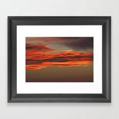 After sunset Framed Art Print