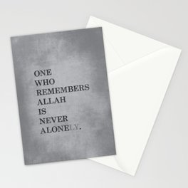 One Who Remembers Allah Stationery Cards