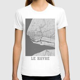 Le Havre Pencil City Map T-shirt