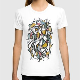 Geometric Abstract Watercolor Ink T-shirt
