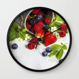 Fresh Berries Wall Clock