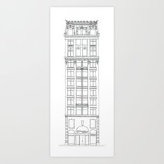 Don't Forget to Look Up by the Downtown Doodler Art Print