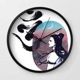 Moon Rising Ohm Wall Clock