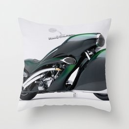 1930 Henderson Streamline Motorcycle Throw Pillow