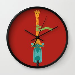 Scooter - ing around Wall Clock