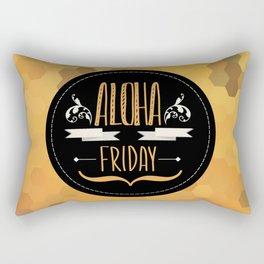 Summer poster Aloha Friday.Typography. Rectangular Pillow