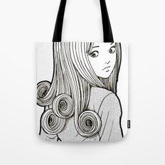 Kirie Goshima Spiral Hair - Uzumaki  (Junji Ito) Tote Bag