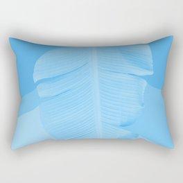 Tropical Banana Leave Pastel Blue Ombre Design Rectangular Pillow