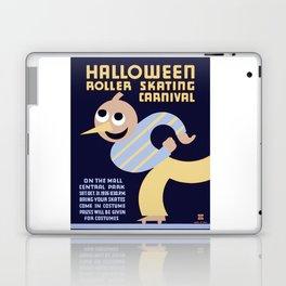 Halloween Roller Skating Carnival Poster, NYC, 1936 Laptop & iPad Skin