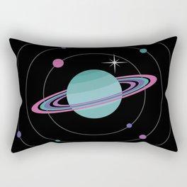 Turquoise Saturn & Bright Star Rectangular Pillow