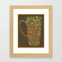Coffee Lover Word Cloud Framed Art Print