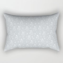 grey snowman Rectangular Pillow