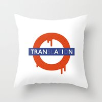 lost in translation Throw Pillows featuring Lost in Translation by John Tibbott