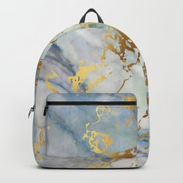 Lovely Marble with Gold Overlay Backpack