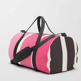 Pink Minimalist Mid Century Modern Color Fields Ombre Watercolor Staggered Squares Duffle Bag