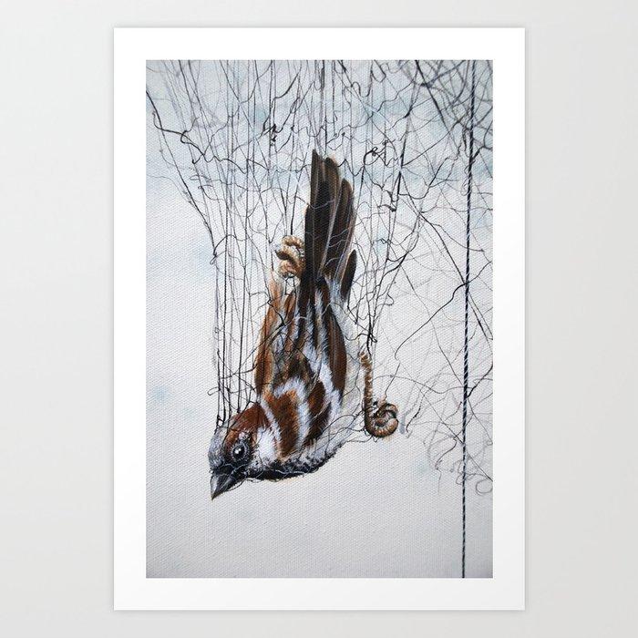 Caught in a net - detail Art Print