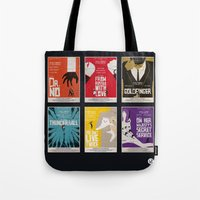 bond Tote Bags featuring Bond #1 by Alain Bossuyt