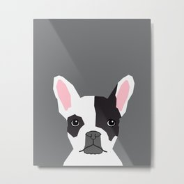 Parker - French Bulldog animal art modern colors for dog people Metal Print
