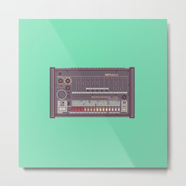 Roland TR-808 Rhythm Composer Vector Illustration Metal Print