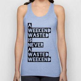 A Weekend Water (Black) Unisex Tank Top