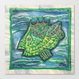 Counter Fish Canvas Print