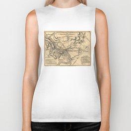 George Washington Trenton NJ Battlefield Map 1777 Biker Tank