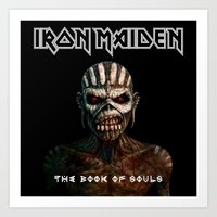 iron maiden Art Prints featuring Iron Maiden-Book Of Souls by darma1982
