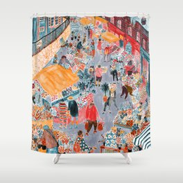 Columbia Road Flower Market Shower Curtain