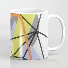 Tangled Retro - Abstract, Mid Century, Pastel Design Coffee Mug