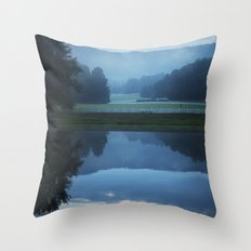 Sunset in the Great Smoky Mountains Throw Pillow