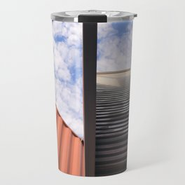 Containers in the sky Travel Mug