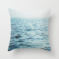The Blue Channel Throw Pillow