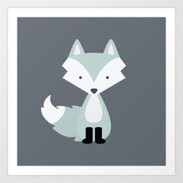 Winter Baby Fox Art Print