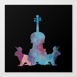 Viola Bunny Painting Canvas Print