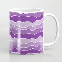 Four Shades of Purple Squiggles Coffee Mug
