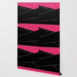Angelica . Raspberry , black Wallpaper