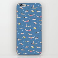 swimming iPhone & iPod Skins featuring Swimming by Sara Maese