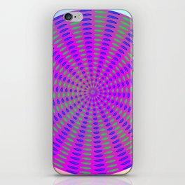 Round rose-pattern iPhone Skin