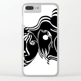 Psycho vibrate Clear iPhone Case